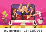 online music concert flat... | Shutterstock .eps vector #1846257085