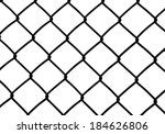 silhouette of wired fence... | Shutterstock .eps vector #184626806