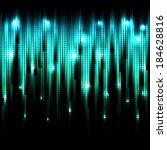 vector abstract glowing azure... | Shutterstock .eps vector #184628816