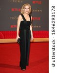 """Small photo of London, United Kingdom - November 21, 2017: Gillian Anderson attends the World Premiere of Netflix's """"The Crown"""" Season 2 at Odeon Leicester Square in London, England."""