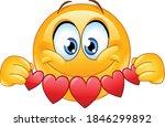 happy emoji emoticon holding... | Shutterstock .eps vector #1846299892