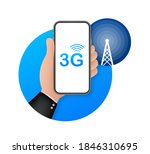 3g network wireless systems and ... | Shutterstock .eps vector #1846310695