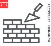 brickwork line icon ...   Shutterstock .eps vector #1846321795