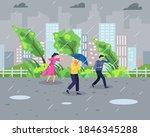 vector illustration rainstorm...   Shutterstock .eps vector #1846345288