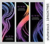 set of modern watercolor grunge ...   Shutterstock .eps vector #1846347985