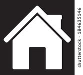 home icon   vector | Shutterstock .eps vector #184635146