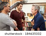 three male architects chatting... | Shutterstock . vector #184635332