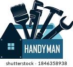 handyman repair and renovation... | Shutterstock .eps vector #1846358938