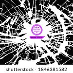 broken cracked glass on black.... | Shutterstock .eps vector #1846381582