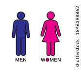 Men And Women Restroom Icon...
