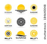 set of sun icons  4  | Shutterstock .eps vector #184640048