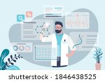scientist conducts... | Shutterstock .eps vector #1846438525