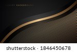 abstract luxury black and wavy... | Shutterstock .eps vector #1846450678