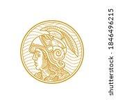 alexander the great in monoline ... | Shutterstock .eps vector #1846496215