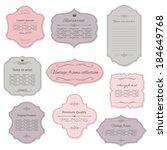 romantic vintage frame set ... | Shutterstock .eps vector #184649768
