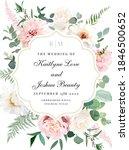 elegant wedding card with... | Shutterstock .eps vector #1846500652