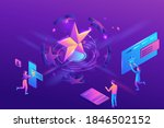 feedback concept with 3d... | Shutterstock .eps vector #1846502152
