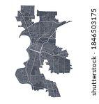 Sacramento Map. Detailed Vector ...