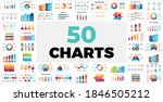 50 charts pack. infographics... | Shutterstock .eps vector #1846505212