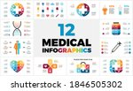 12 medical infographic... | Shutterstock .eps vector #1846505302