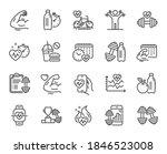 fitness time line icons. bike...   Shutterstock .eps vector #1846523008