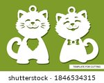 two pendants with a pair of...   Shutterstock .eps vector #1846534315