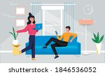 young man using smartphone... | Shutterstock .eps vector #1846536052