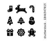 christmas icon collection black ... | Shutterstock .eps vector #1846547815