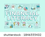 financial literacy word...