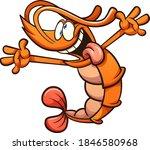 crazy cartoon shrimp with... | Shutterstock .eps vector #1846580968