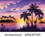Tropical Sea Landscape  Black...