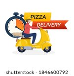 pizza delivery banner. online...