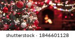 christmas tree with decorations ... | Shutterstock . vector #1846601128