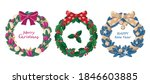 set of christmas wreaths made... | Shutterstock .eps vector #1846603885