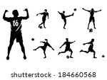 soccer players vector... | Shutterstock .eps vector #184660568