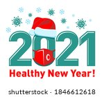 2021 healthy new year concept...   Shutterstock .eps vector #1846612618