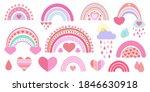 cute vector heavenly set ... | Shutterstock .eps vector #1846630918