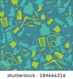 clean seamless pattern | Shutterstock .eps vector #184666316