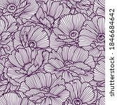 seamless pattern with poppies.... | Shutterstock .eps vector #1846684642