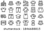 school uniform icons set....   Shutterstock .eps vector #1846688815