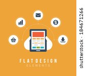 flat design vector illustration ... | Shutterstock .eps vector #184671266