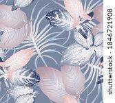 tropical leaf modern motif....   Shutterstock .eps vector #1846721908