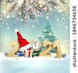 happy christmas and new year... | Shutterstock .eps vector #1846734658