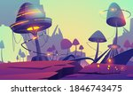 fantasy landscape with magic...   Shutterstock .eps vector #1846743475
