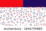 red and blue stars usa flag...   Shutterstock .eps vector #1846759885