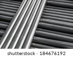 circle pipe aluminium steel ... | Shutterstock . vector #184676192