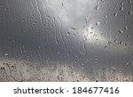 Rain Droplets On A Window Glas...