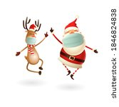 happy cute santa claus and... | Shutterstock .eps vector #1846824838