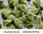 roasted broccoli florets with...