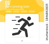 running man premium icon with...